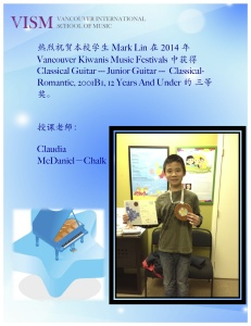 Mark Lin VKM 三等奖